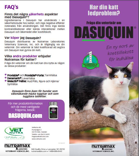 Dasuquin för katter infoblad